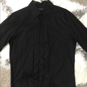 7 Diamonds Black Button Down XLARGE